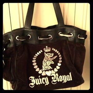 VinJuicy Couture, black velvet Juicy Royal handbag